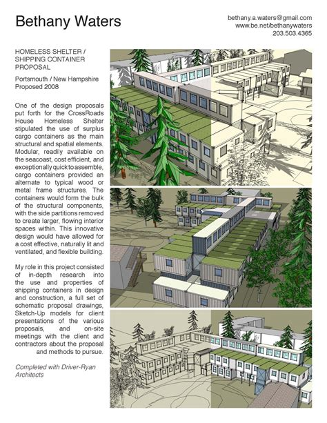 design brief for emergency shelter homeless shelter shipping container proposal bethany