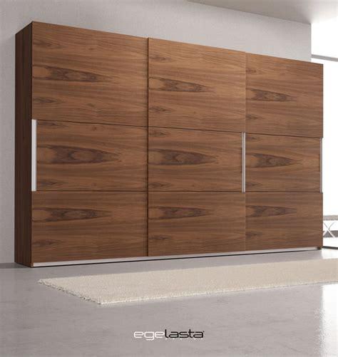 egelasta open nexus  mueble moderno madera armario puertas correderas nogal