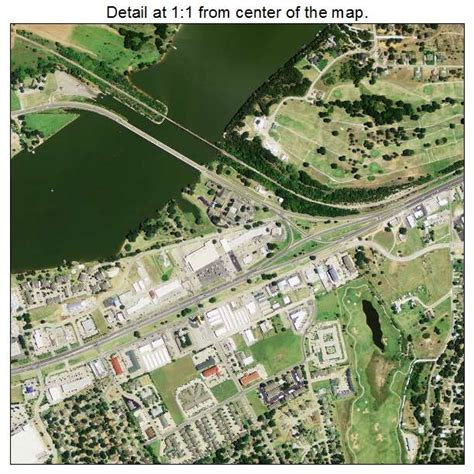 aerial photography map of granbury tx