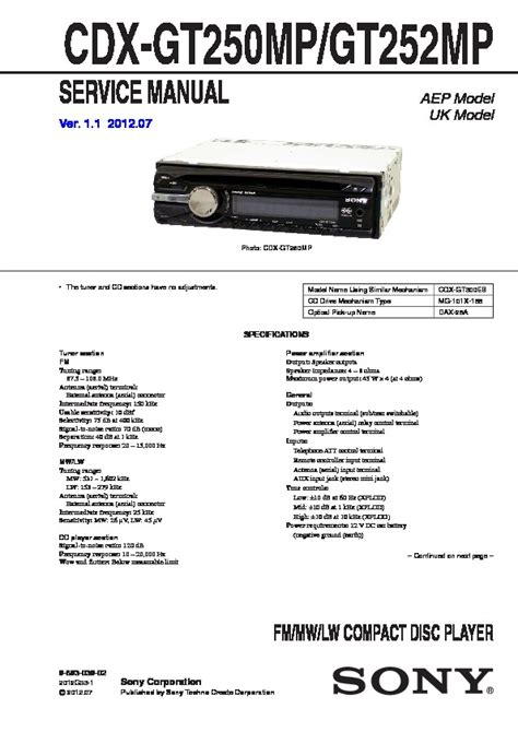 sony cdx gt300mp wiring diagram wiring diagram