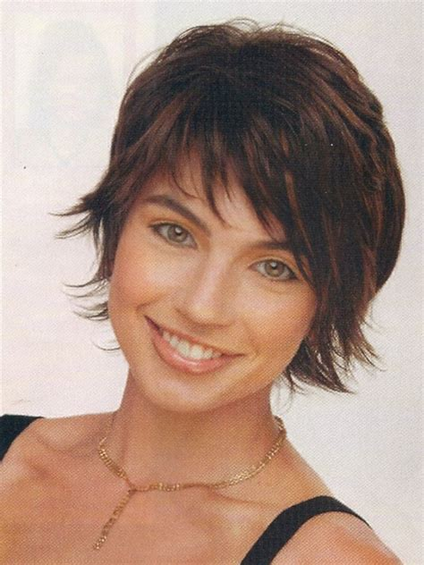 brunette womens shaggy layered short haircuts cute short wispy shag haircut haircuts pinterest for