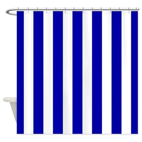 navy blue and white striped shower curtain navy blue and white sailor stripes shower curtain by