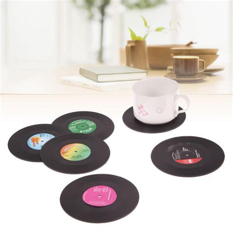 Promo Terbaru Plastic Table Coffee Cup Holder Cup Clip Tempat Minum 6pcs lot useful vinyl coaster cup drinks holder mat