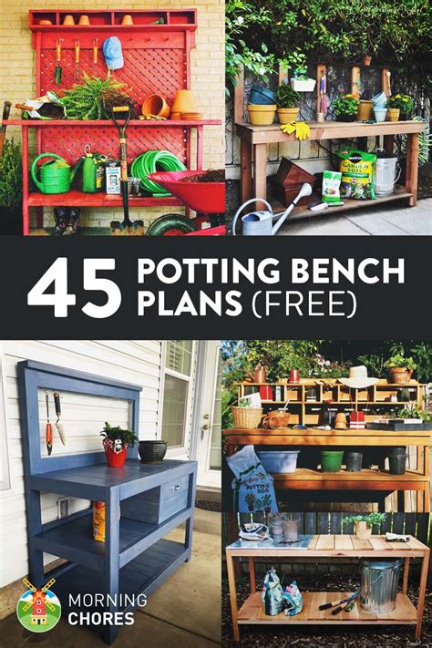 diy potting bench plans 45 diy potting bench plans that will make planting easier free