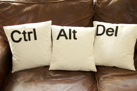 Alt Delete Pillows by Ctrl Alt Set Of Three Black Cushion Covers Felt Letters Ebay