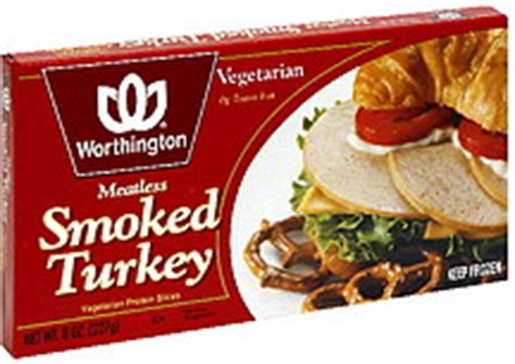 protein 8 oz turkey worthington vegetarian protein slices meatless smoked