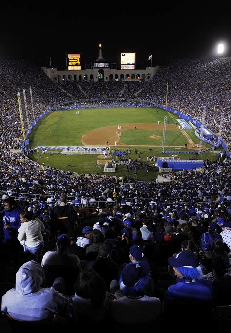 years  today  red sox dodgers game set  record  largest baseball crowd