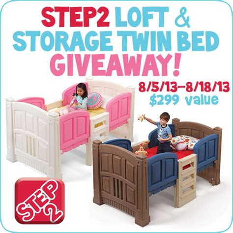 step 2 loft and storage twin bed step2 loft and storage twin bed giveaway rv 299