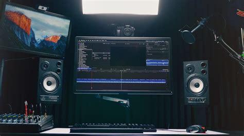 ultimate   video editing desk setup