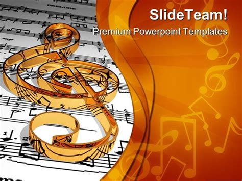 Gold Music Symbol Powerpoint Templates And Powerpoint Backgrounds Authorstream Musical Powerpoint Templates