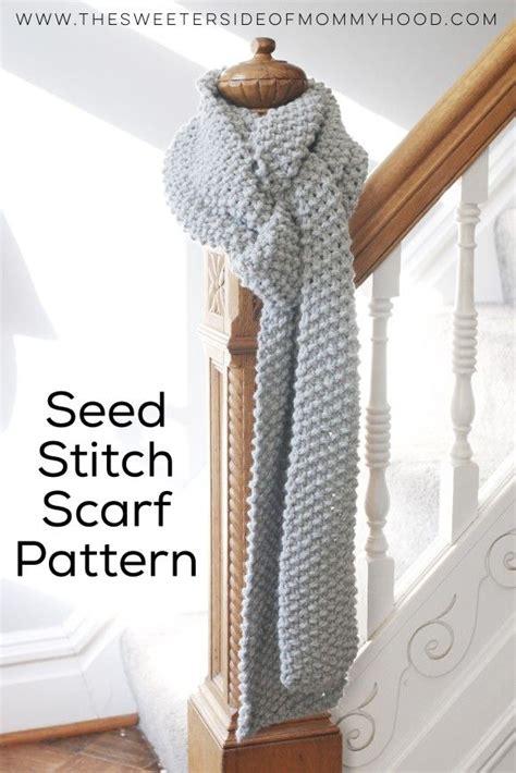 knitting moss stitch scarf free seed stitch scarf pattern so soft and wonderful