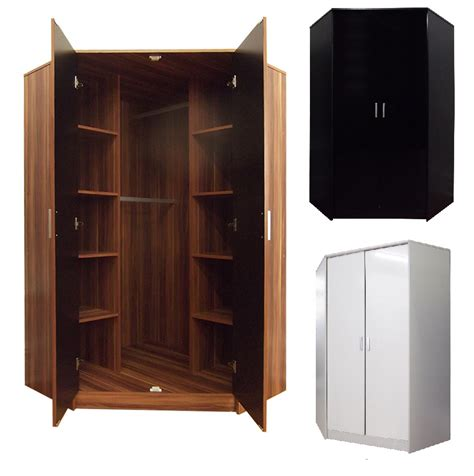 2 Door Corner Wardrobe by Khabat High Gloss 2 Door Corner Wardrobe Bedroom Furniture