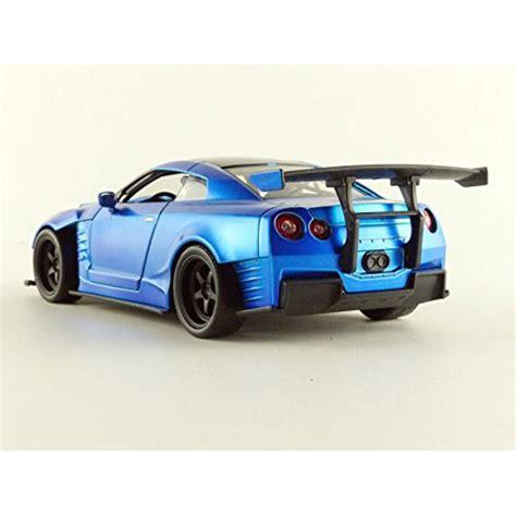 Diecast Nissan Gtr R35 Ben Spora Skala 1 24 Toys fast and furious model 2009 nissan gt r r35 blue ben sopra 1 24 diecast apecollection