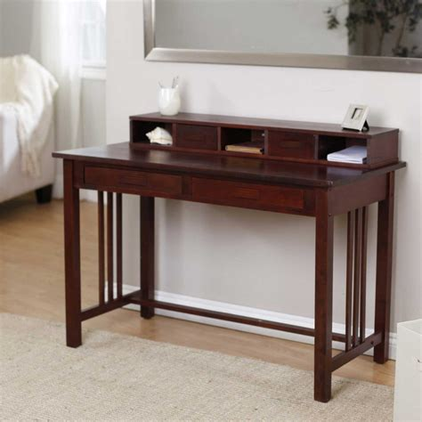 wooden home office desk simple writing desks for small spaces homesfeed