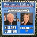 Texts From Hillary Meme Generator - bernie or hillary meme generator imgflip