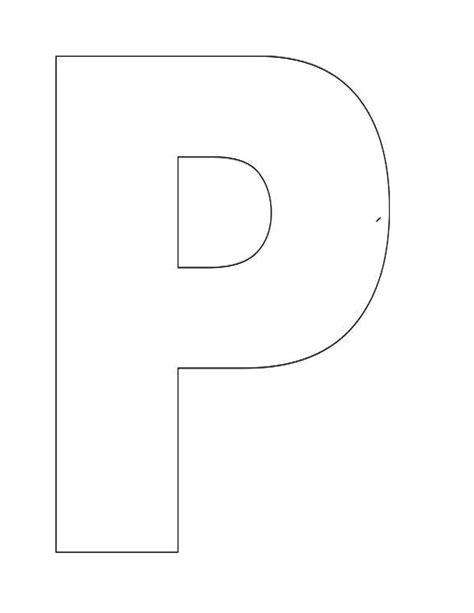 letter p template letter p template letters font