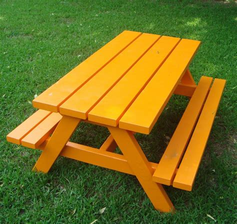 diy picnic bench ana white build a bigger kid s picnic table diy projects