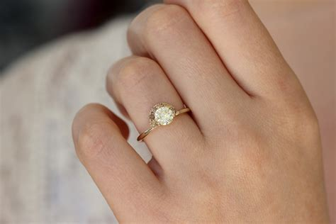 One Engagement Ring by One Carat Engagement Ring With Brown Diamonds Artemer