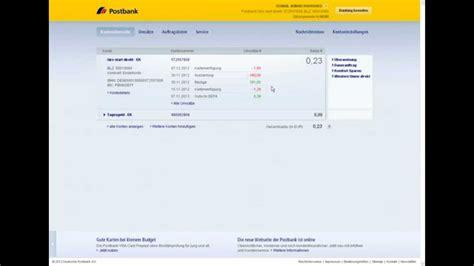 post bank onlinebanking banking postbank tutorial