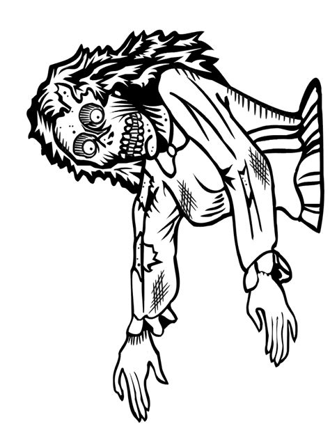 zombie coloring pages printable scary zombie coloring pages coloring home