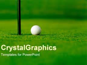golf powerpoint templates powerpoint template golf course with white golf next