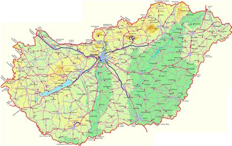 physical map of hungary index of country europe hungary maps