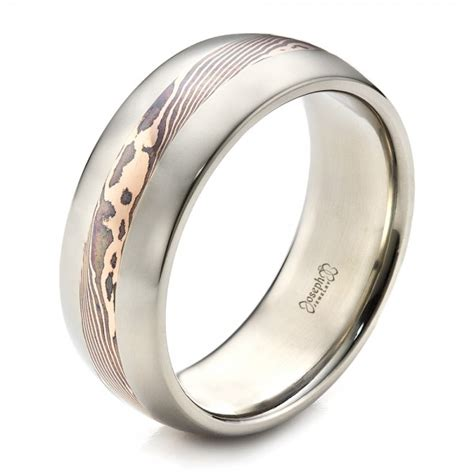 s palladium and mokume wedding band 1465