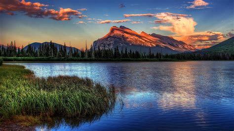 vermillion lakes banff national park wallpaper