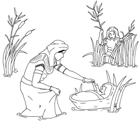picture of moses az coloring pages