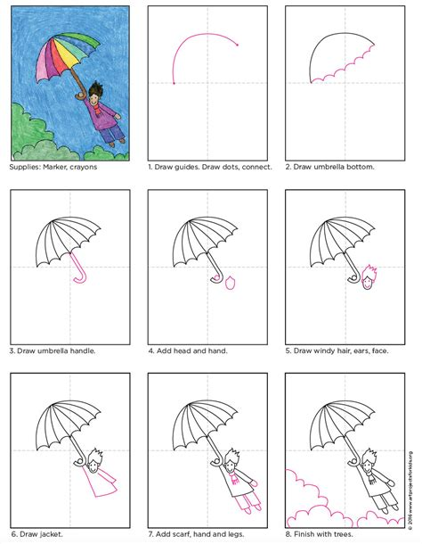 Halloween Kids Crafts Easy - flying umbrella kid art projects for kids