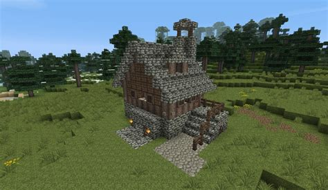 smallest minecraft house small medieval house 1 by heart craft minecraft project