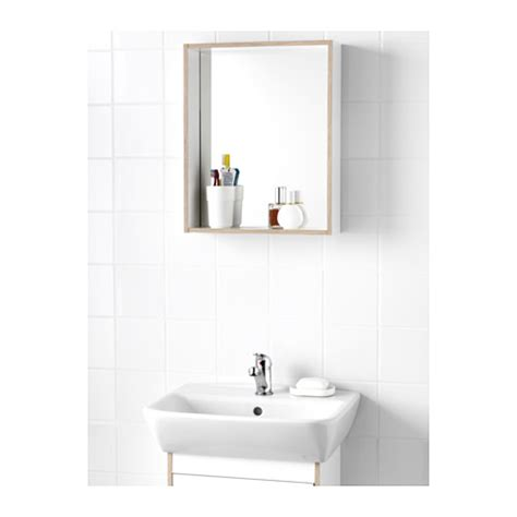 ikea bathroom mirror with shelf tyngen mirror with shelf white ash effect 40x50 cm ikea