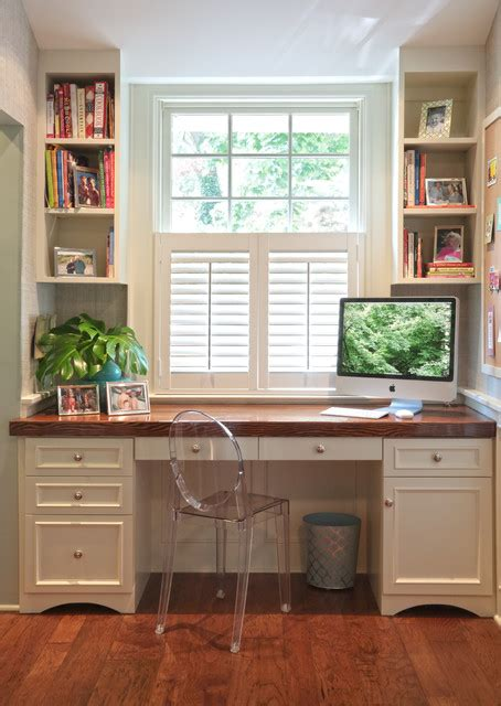 Office Desk In Front Of Window Kitchen Upgrade Traditional Home Office New York