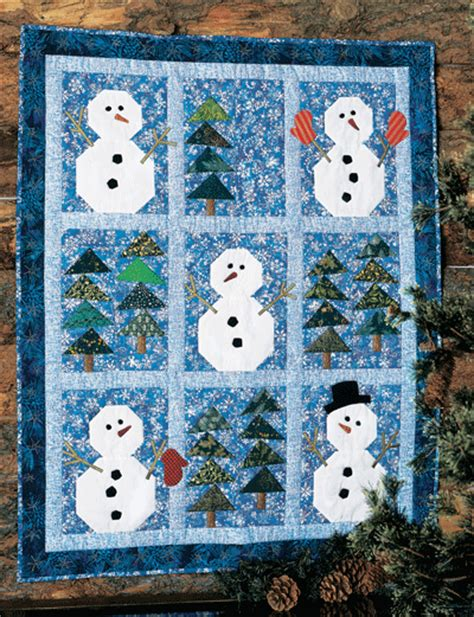 qm cool down winter quilts such as snowmen in the woods