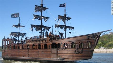 pirate boat man builds pirate ship sells for 80 000 on craigslist