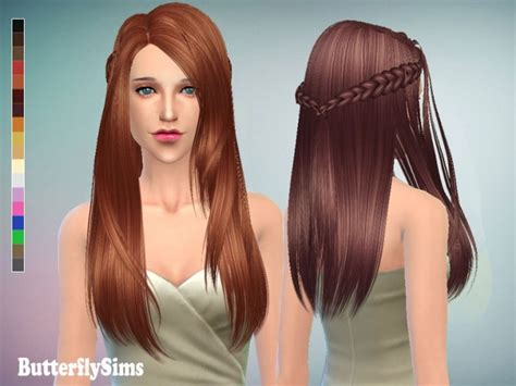 sims 4 custom content braids long hair 136 with braids pay at butterfly sims 187 sims 4