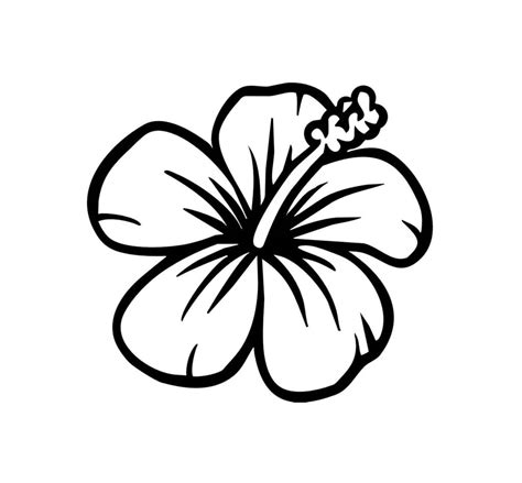 printable pictures of hawaiian flowers image gallery hawaiian flower coloring pages