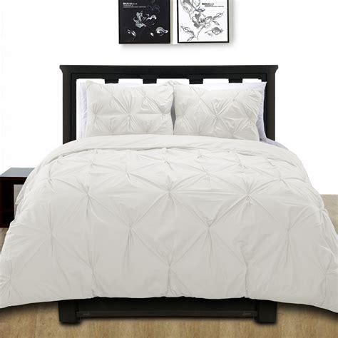 white pintuck comforter set cotton basics cottonesque 100 cotton pintuck duvet cover