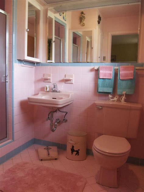 Vintage Pink Bathroom Bathroom Pinterest Pink Modern Retro Bathroom