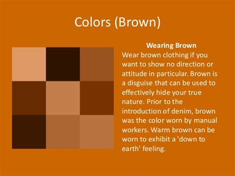 color brown meaning colors meaning