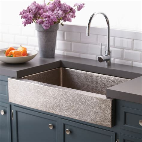 Apron Kitchen Sinks Paragon Single Basin Farmhouse Kitchen Sink Trails