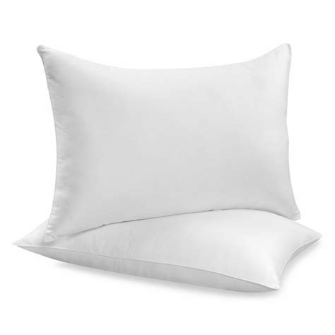 Pack Pillow - pack of 2 pillows luxury bounce back hollow fibre filling