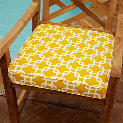 Patio Chair Cushions 20 Penelope Yellow 20 Inch Square Outdoor Chair Cushion