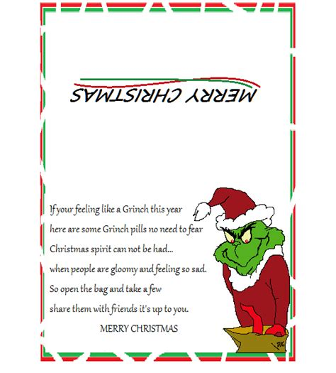 printable turkey poop poem 7 best images of grinch pills printable tags grinch