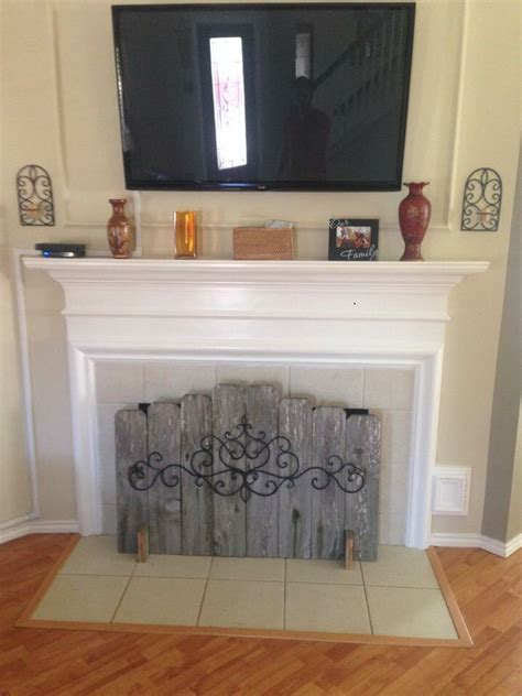 fireplace covering best 25 fireplace cover ideas on pinterest faux mantle