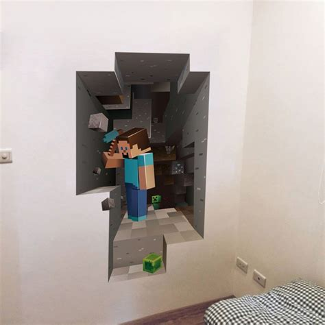 minecraft  creeper fathead style wall art decal vinyl