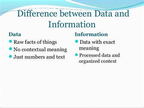 by shit i of course mean immense knowledge and yes differene between data and information