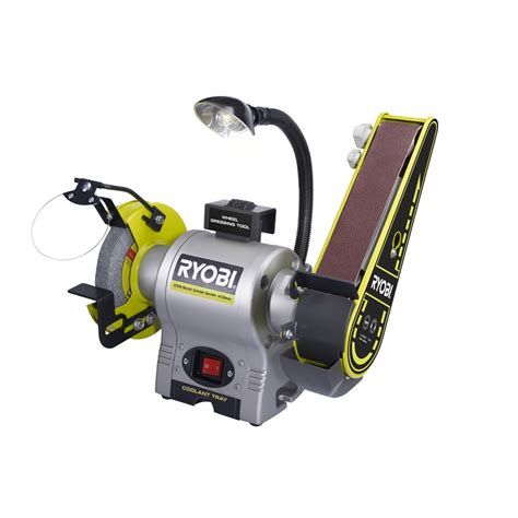 bench grinder ryobi ryobi 370w bench grinder sander bunnings warehouse