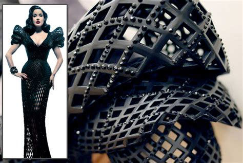 Dress Printing Dhita chanel widens haute couture through 3d printing make it leo