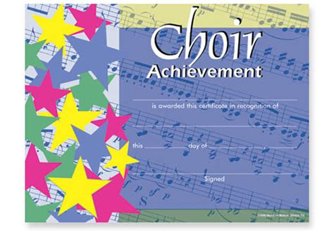 choir certificate template choir appreciation quotes quotesgram